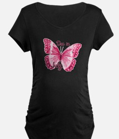 Due July Sparkle Butterfly T-Shirt