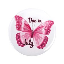 """Due July Sparkle Butterfly 3.5"""" Button (100 pack)"""
