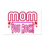 Mom You Rock Mini Poster Print