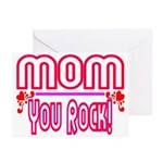 Mom You Rock Greeting Cards (Pk of 10)