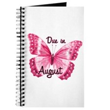 Due August Sparkle Butterfly Journal