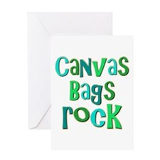 Canvas Bags Rock Greeting Card