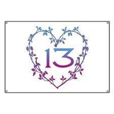 Thirteenth Birthday Banner
