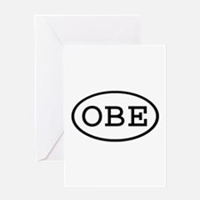 OBE Oval Greeting Card