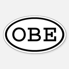 OBE Oval Oval Decal