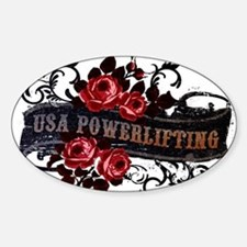 WOMEN'S POWERLIFTING Oval Decal