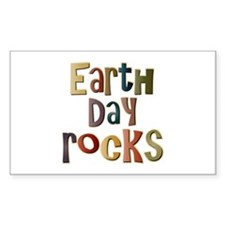 Earth Day Rocks Rectangle Decal