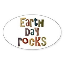 Earth Day Rocks Oval Decal