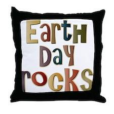 Earth Day Rocks Throw Pillow