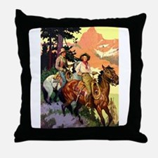 Western Scenic Throw Pillow