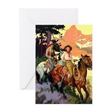 Western Scenic Greeting Card