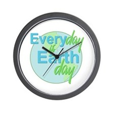 Every Day is Earth Day Wall Clock