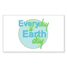 Every Day is Earth Day Rectangle Decal