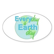 Every Day is Earth Day Oval Decal