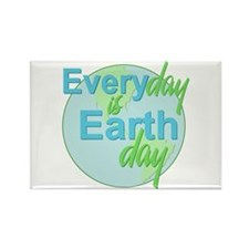 Every Day is Earth Day Rectangle Magnet (100 pack)