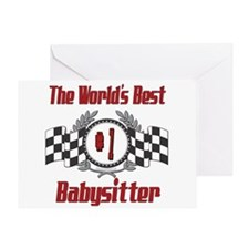 Racing Babysitter Greeting Card
