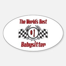Racing Babysitter Oval Decal