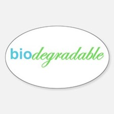 Biodegradable Oval Decal