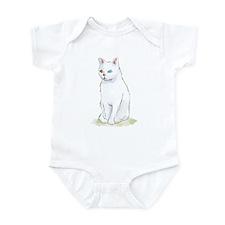 Odd Eyed White Cat Infant Bodysuit
