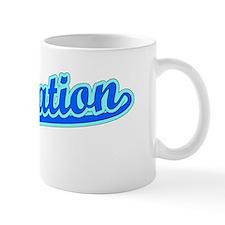 Retro Plantation (Blue) Mug