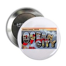 "Ocean City Maryland Greetings 2.25"" Button"