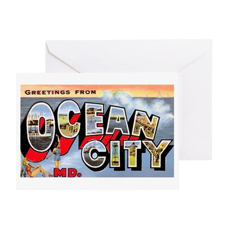 Ocean City Maryland Greetings Greeting Card