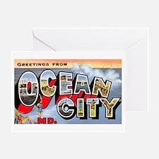 Ocean City Maryland Greetings Greeting Card