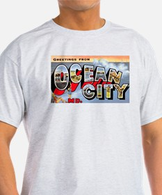 Ocean City Maryland Greetings (Front) T-Shirt
