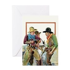 Three Cowboys Greeting Card
