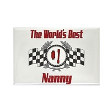 Racing Nanny Rectangle Magnet (100 pack)