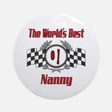 Racing Nanny Ornament (Round)