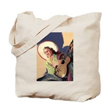 Singing Cowgirl Tote Bag
