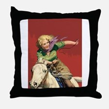Sexy Cowgirl Throw Pillow