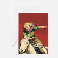 Sexy Cowgirl Greeting Card