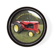 Antique tractor Wall Clock