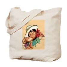 Romantic Cowboy Tote Bag