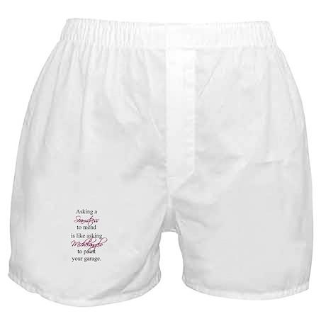 Asking a Seamstress to Mend Boxer Shorts