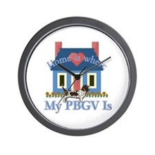 P B G V Home Is Wall Clock