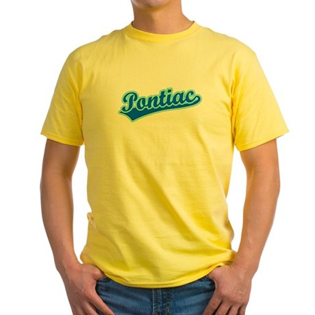 Retro Pontiac (Blue) Yellow T-Shirt
