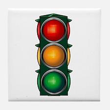 Stop Light Tile Coaster