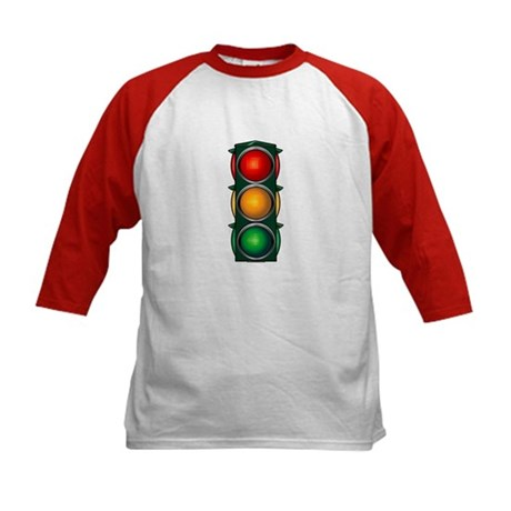 Stop Light Kids Baseball Jersey