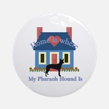 Pharaoh Hound Home Ornament (Round)