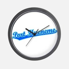 Retro Port Hueneme (Blue) Wall Clock