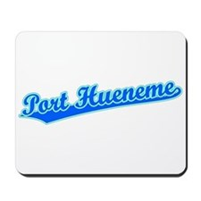 Retro Port Hueneme (Blue) Mousepad