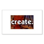 Create - sewing crafts Rectangle Sticker 50 pk)
