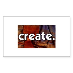 Create - sewing crafts Rectangle Sticker 10 pk)