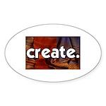 Create - sewing crafts Oval Sticker (50 pk)