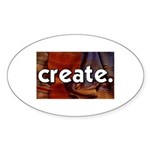 Create - sewing crafts Oval Sticker (10 pk)