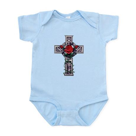 Cross Celtic Rose Infant Bodysuit