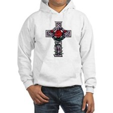 Cross Celtic Rose Hoodie